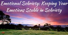 drug recovery emotions
