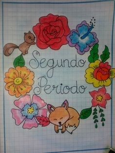 Ideas para division de segundo bimestre. Decorate Notebook, Diy Notebook, Bullet Journal Notes, School Notebooks, Felt Owls, Border Design, Cover Pages, Learn To Draw, Diy And Crafts