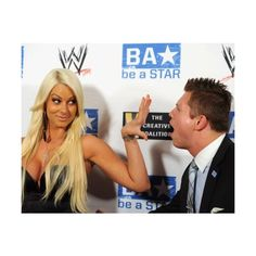 Maryse and The Miz♥. ❤ liked on Polyvore featuring wwe