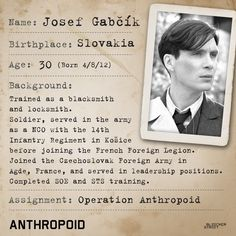 See #CillianMurphy embody Josef Valčík, the Czechoslovak soldier who took on one of the most harrowing operations in WWII. #Anthropoid, in theaters 8/12.