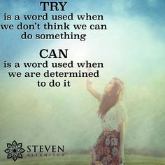 Try, can