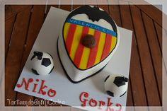 Tarta Barça, Valencia C.F.  y Spiderman