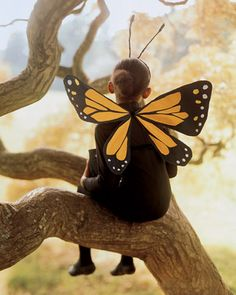 DIY CRAFTS halloween best costume Crepe-Paper Butterfly