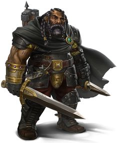 ebony dwarf, black dwarf, ranger, warrior, explorer, rpg, d&d, DnD, fantasy character, concept art by pintrest
