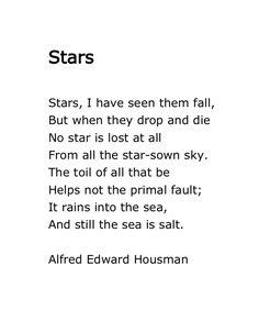 Alfred Edward Housman, Stars