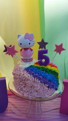 Hello kitty rainbow cake made by Melanie Harris