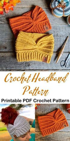 crochet headband pattern - women's crochet pattern - ear warmer crochet pattern #crochet #crochetpattern