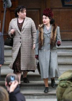 on the set(ENID) - helena-bonham-carter Photo