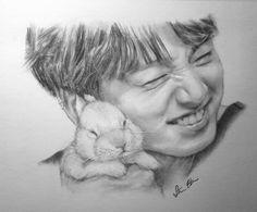 Amazing Drawings, Cool Art Drawings, Realistic Drawings, Art Drawings Sketches, Pencil Drawings, Jungkook Fanart, Kpop Fanart, Easy Landscape Paintings, Kpop Drawings