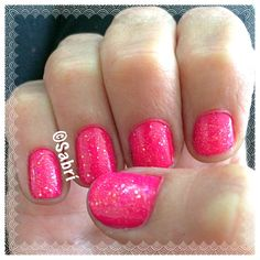 #manicure #notd: #sinfulcolors #sckandee #pinuppink topped with #pinkyglitter. #SWEET! #Nails #Uñas #Unghie #Ongles  #Unhas #Nailpolish #Esmalte #Smalto #Émail. #Beauty #Belleza #Bellezza #Beauté #Beleza #Cosmetics #Cosméticos #Cosmetici #produitsdebeaute #fabat40.