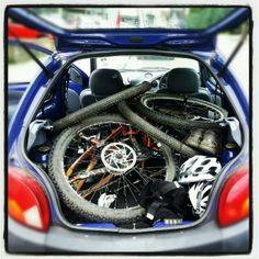 One Ford Ka, two bikes!