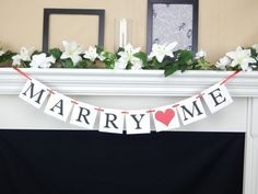 Items similar to Will you marry me banner, marriage proposal sign, surprise engagement garland, pop the question bunting, he asked she said yes decorations on Etsy Engagement Party Decorations, Bachelorette Party Decorations, Surprise Engagement, Wedding Photo Props, Bridal Shower Signs, Girl Baby Shower Decorations, Party Banners, Marriage Proposals, Marry You