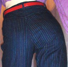 High waisted Gitano jeans - colored stripes