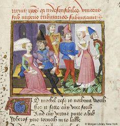 Medieval Manuscript Images, Pierpont Morgan Library, Confessio amantis. MS M.126…