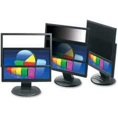 3M PF322W Framed Privacy Filter for Widescreen Desktop LCD/CRT Monito
