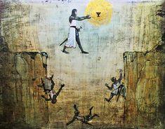 Indiana Jones Grail Knight Painting