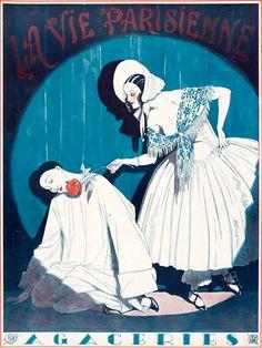 La Vie Parisienne. (3 Fevrier 1923.). Cover art by LEONNEC, G.