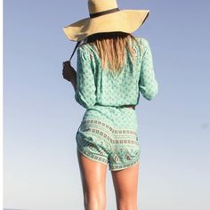 Spell & the Gypsy Collective Gypsiana Jumpsuit Turquoise. Worn one time! Spell & The Gypsy Collective Dresses