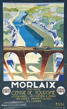 Morlaix 1936 Imprimeries Morlaisiennes Morlaix, Affiche ento