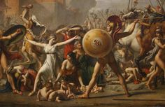 Intervention of the Sabine Women by Jacques-Louis David
