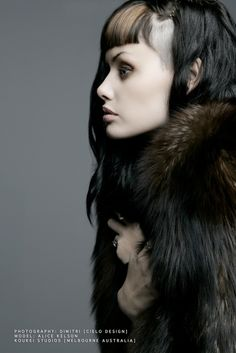 I don't usually like shaved sides, but this is so lovely and striking...