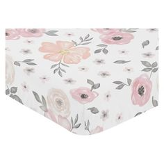 Pink and Grey Watercolor Floral fitted crib sheets will help complete the look of your Sweet Jojo Designs nursery. This watercolor floral print brushed microfiber sheet fits all standard crib and toddler mattresses and is machine washable for easy care. Pink Crib Bedding, Floral Bedding, Baby Comforter, Floral Nursery, Bedding Sets, Bedding Decor, Chic Bedding, Crib Sets, Unique Bedding