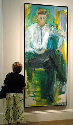 "Elaine de Kooning, ""John F. De Kooning Paintings, Paintings Famous, Famous Artists, Oil Paintings, Elaine De Kooning, Examples Of Art, Willem De Kooning, Political Art, National Portrait Gallery"
