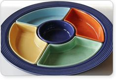 Fiestaware----Still made in the USA, since the depression.  BUY AMERICAN, people!!!  Save jobs.