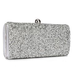 Evening Bag Clutch Chain Glitter Shimmer Rhinestone Wedding Party Club Hand Bag