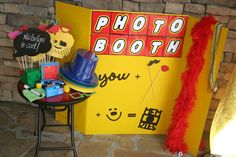 Lego party photo booth