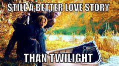Jamie Lannister and Brienne of Tarth-- still a better love story than Twilight. #GameofThrones
