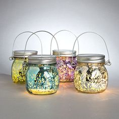 Mini Glass Mason Jar Latern