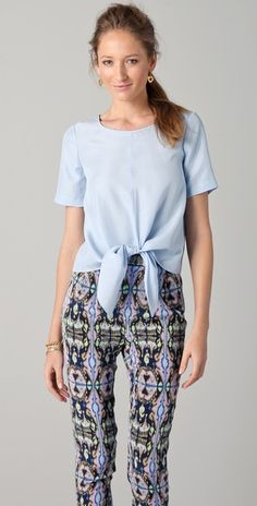 Tibi blouse and pants. obsessed