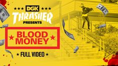 """DGK's """"Blood Money"""" Video - http://DAILYSKATETUBE.COM/dgks-blood-money-video/ - http://www.youtube.com/watch?v=Jp9ioAABrrw&feature=youtube_gdata  DGK has again earned their reputation for progression and classic moves with a twist. This video rips. Marquise is a board control wizard with one of the great modern styles. And as for Boo?... - blood, DGK's, money, video"""