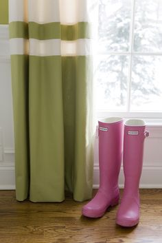 color blocked panels + my hunter wellies. alisha gwen interior design.