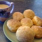 Cinnamon Coffee Puffs... these would be easy in my cake pop maker