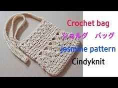 How to crochet bag(jasmine stitch shoulder bag)(eng sub) Crochet Bag Tutorials, Crochet Purse Patterns, Crochet Videos, Crochet Handbags, Crochet Purses, Crochet Bags, Love Crochet, Knit Crochet, Crochet Wallet