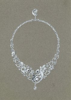 Collier Caméléons   or blanc-diamant-oxyx