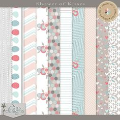 Showers of Kisses - Papers | SAS Designs