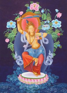 Dancing Manjushri _พระโพธิสัตว์มัญชุศรี เป็นตัวแทนกฎแห่งธรรมที่เป็นมูลฐานของสัตว์