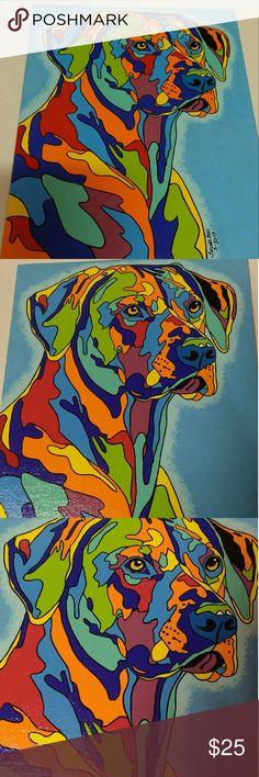 Whimsical Pop Art on 8X10 flat canvas Whimsical Pop Art Dog.  On 8X10 flat canvas Accessories
