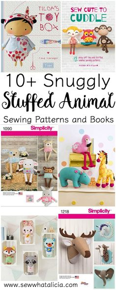10+ Snuggly Stuffed Animal Sewing Patterns: If you love to make your own gifts then these stuffed animal patterns are perfect for you! Click through to see a fun collection of stuffed animal sewing patterns that are great for gifting. | www.sewwhatalicia.com