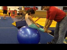 Body Tension Exercise with the Physioball Gymnastics Quotes, Gymnastics Coaching, Gymnastics Training, Back Handspring Drills, All About Gymnastics, Youth Cheer, Physical Therapy, Body Shapes, Exercise