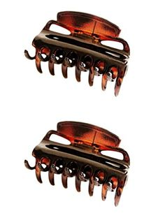 Set of 2 Beautiful Brown or Tort Brown Hair Claw Clamp Clip Unique Bull Dog Design Hair Claw, Dog Design, Clamp, Brown Hair, Hair Accessories, Amazon, Beautiful, Brown Scene Hair, Amazons
