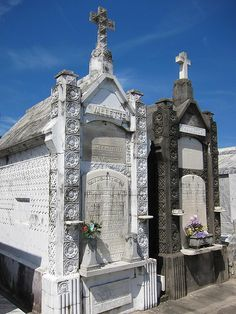"""in 2001 Nathan and I were going to visit New Orleans Cemetary 2. I wanted to see Marie LaVeaux but when I got out and shut the door a voice whispered into my ear """"Do not go in there"""". Nathan looked at me and asked what is wrong. I told him so we got back in the car and left."""