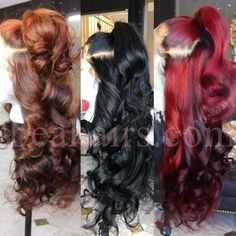 Red Wigs Lace Frontal Wigs Auburn Hair With Highlights From Blonde To Red Baby Blue Wig Aquaman Red Wig Spicy Red Hair Color My Hairstyle, Wig Hairstyles, Summer Hairstyles, Colored Weave Hairstyles, Long Weave Hairstyles, Indian Hairstyles, Black Hairstyles, Love Hair, Gorgeous Hair