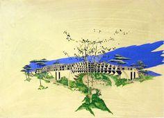 """Jean Balladur 1968-1977. Station balnéaire de La Grande-Motte (source: Exposition virtuelle """"Du Jardin au paysage"""",Cité de l'Architecture et du Patrimoine)"""