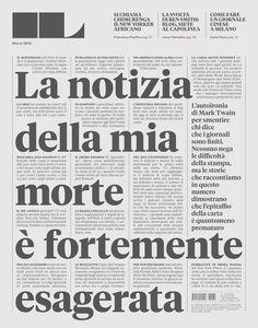 IL - Intelligence in lifestile Magazine. A lesson of magazine layout/pagination