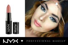 "Make-up inspiration! ΝYX Matte Lipstick στην nude/ροδακινί απόχρωση ""Spirit"" (MLS33)."