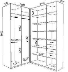 ideas for closet medidas projeto Corner Wardrobe, Wardrobe Design Bedroom, Master Bedroom Closet, Bedroom Wardrobe, Wardrobe Closet, Bedroom Small, Walk In Closet Design, Closet Designs, Closet Layout